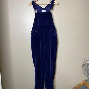 Vintage Velvet Blue Overalls